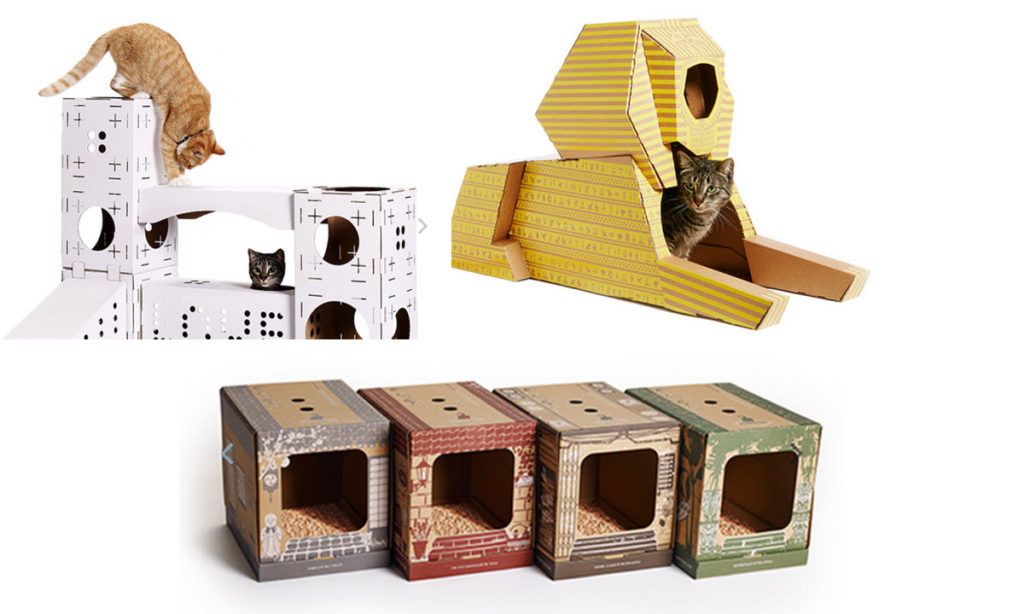 cartons pour chats poopy cat