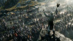Scène du Hobbit, la Bataille des 5 Armées
