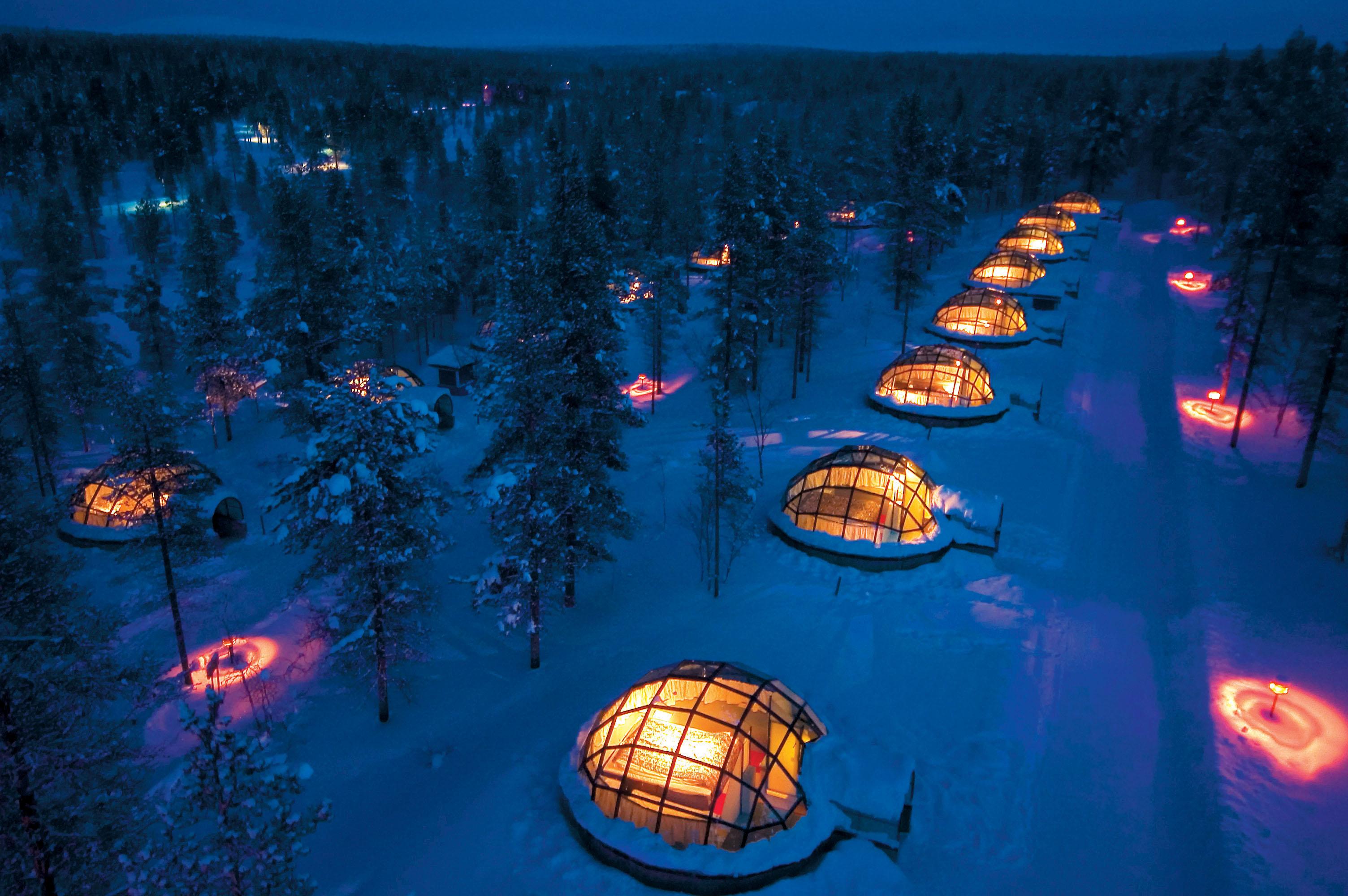 Igloos de verre en Finlande